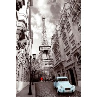PH0425 PARIS RED GIRL BLUE CAR
