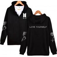 BTS-Veste à capuche BTS Love Yourself Petit Logo Blanc