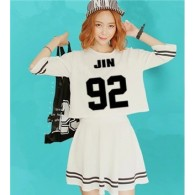 BTS-Ensemble Crop Top + Jupe - JIN 92