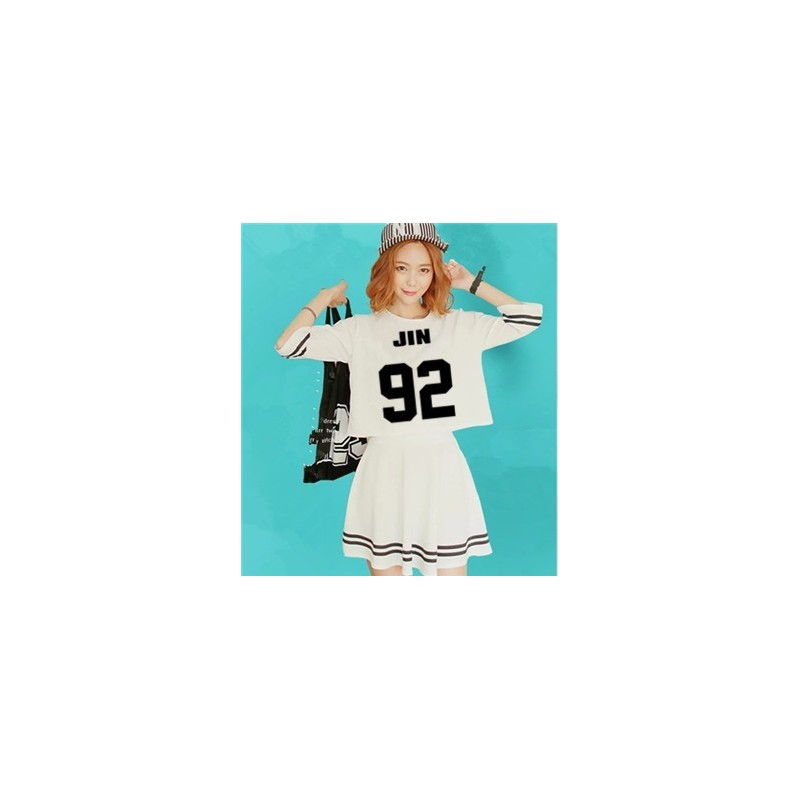BTS-Ensemble Crop Top + Jupe - JIN 92