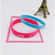 BRACELET SILICONE PACK 2PCS - BTS - JIN
