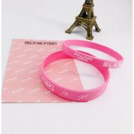 BRACELET SILICONE PACK 2PCS - BLACK PINK