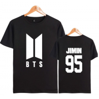 BTS T-SHIRT NEW LOGO BLANC - JIMIN 95