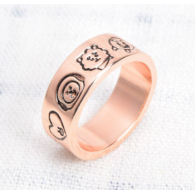 BT21 - BAGUE - COULEUR - D'OR rose