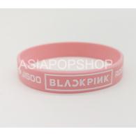 BRACELET SILICONE ROSE - BLACK PINK