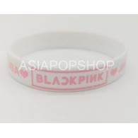 BRACELET SILICONE BLANC - BLACK PINK