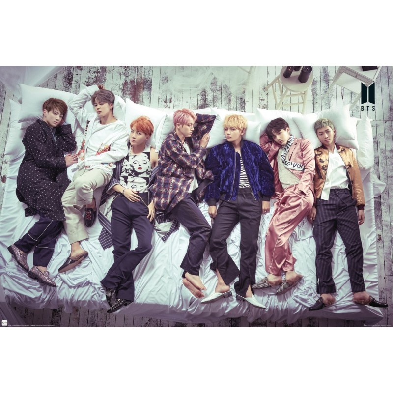 BTS GROUP BED MAXI POSTER